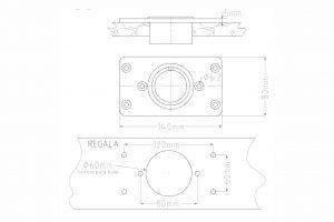 base rectangular empotrada INOX rocket roshi fishing (2)